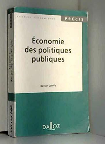9782247017683: Economie des politiques publiques (Precis. Sciences economiques) (French Edition)