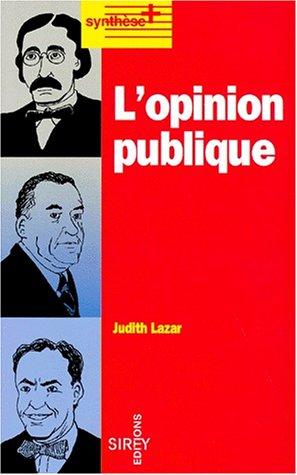 9782247018017: L'opinion publique