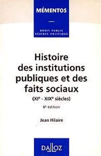 Histoire des institutions publiques et des faits