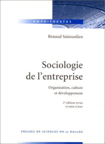 9782247020768: Sociologie de l'entreprise : Organisation, culture et développement