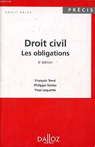 9782247024490: DROIT CIVIL. Les obligations, 6ème édition