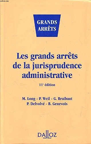 9782247024568: Les grands arrets de la jurisprudence administrative (Collection Droit public) (French Edition)