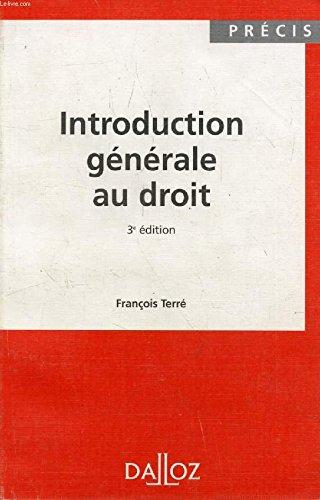 9782247024605: Introduction générale au droit (Précis Dalloz)