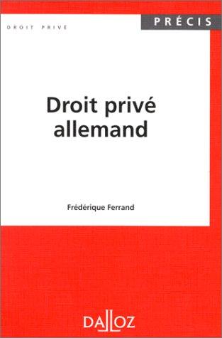 9782247025701: Droit privé allemand