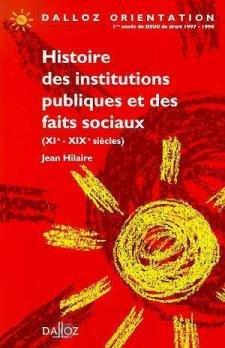 HISTOIRE DES INSTITUTIONS PUBLIQUES ET DES FAITS: Hilaire, Jean