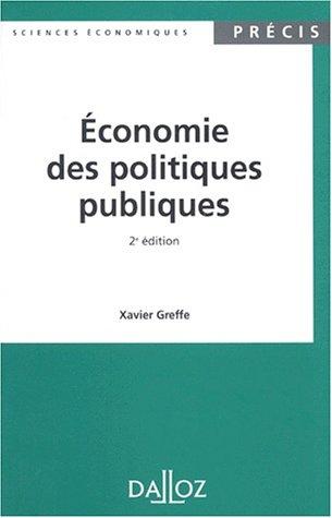 9782247027545: Economie des politiques publiques, 2e édition