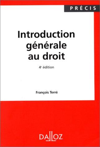 9782247031061: INTRODUCTION GENERALE AU DROIT. 4ème édition 1998 (Précis Dalloz)