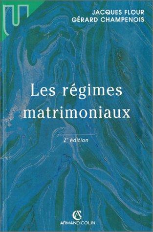 9782247031528: Les Régimes matrimoniaux, 2e édition