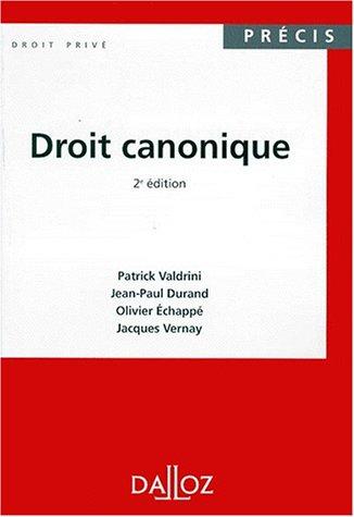 9782247031559: DROIT CANONIQUE. 2ème édition, 1999 (Précis Dalloz)
