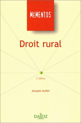 9782247031740: Droit rural (Mementos Dalloz. Serie droit prive) (French Edition)