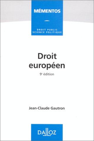 9782247033539: Droit europeen (Mementos Dalloz) (French Edition)
