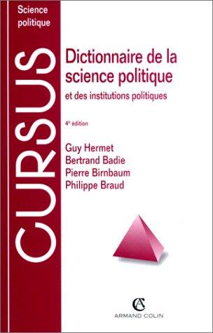 9782247039029: Dictionnaire de la science politique et des institutions politiques, 4e édition