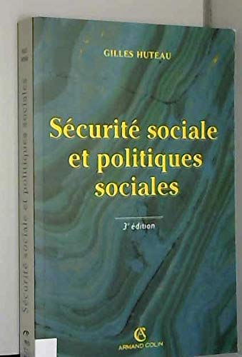 9782247039081: S�curit� sociale et politiques sociales