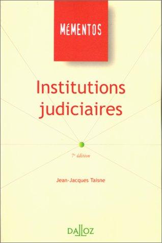 9782247040889: Institutions judiciaires