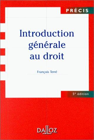 9782247041237: Introduction générale au droit. 5ème édition (Précis Dalloz)