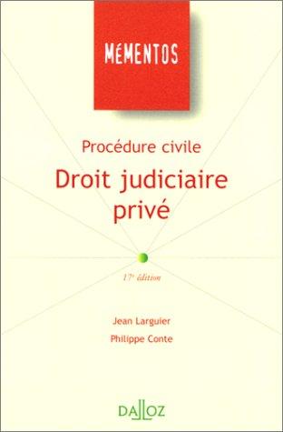 9782247041435: Procédure civile : droit judiciaire privé, 17e édition
