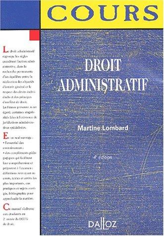 9782247042722: Droit administratif: Cours, 4e édition (cours)