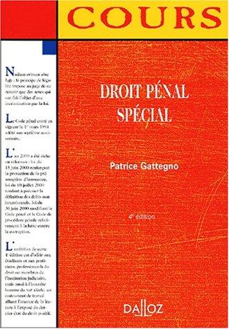 9782247042777: Droit penal special, 4e édition (cours)