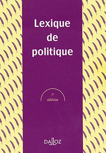 9782247042913: Lexique de politique