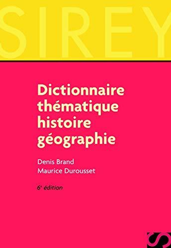 9782247043057: Dictionnaire thématique : Histoire - Géographie