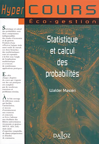 9782247044047: Statistiques et calcul des probabilités