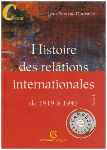 9782247046478: Histoire des Relations Internationales (Campus)
