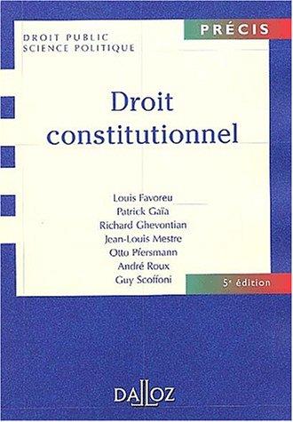 9782247047673: Droit constitutionnel, 5e édition