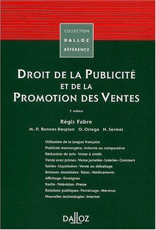 9782247048724: Droit de la publicité et de la promotion des ventes (Dalloz référence)