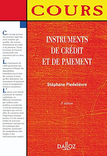9782247051281: Instruments de credit et de paiement 3 ed cours