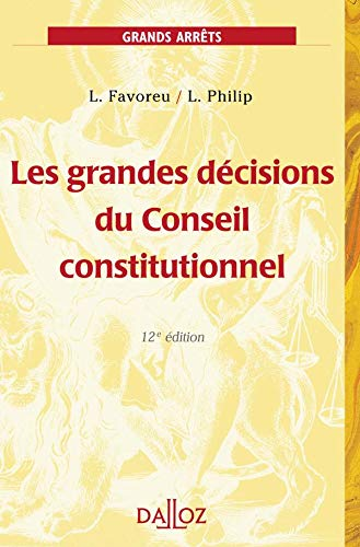 9782247051755: Les grandes décisions du Conseil constitutionnel