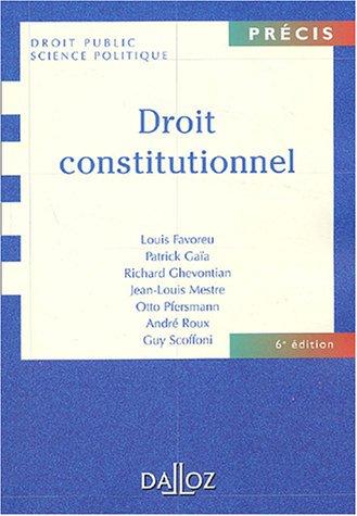 9782247051786: Droit constitutionnel (Précis Dalloz)