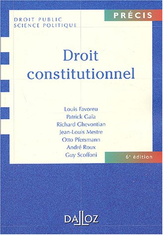 9782247051786: Droit constitutionnel