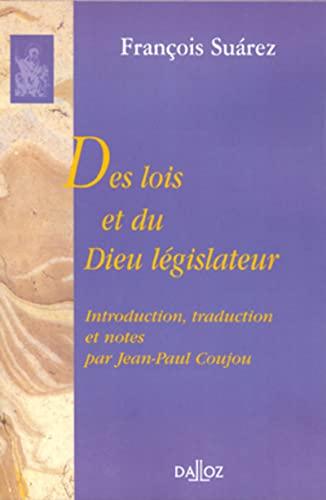 9782247052257: Des lois et du Dieu législateur