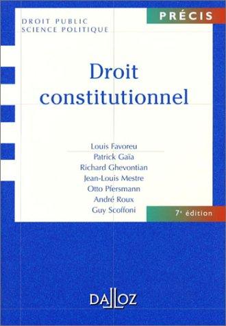 9782247055487: Droit constitutionnel