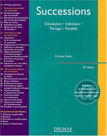 9782247055890: Successions : Dévolution - Indivision - Partage - Fiscalité
