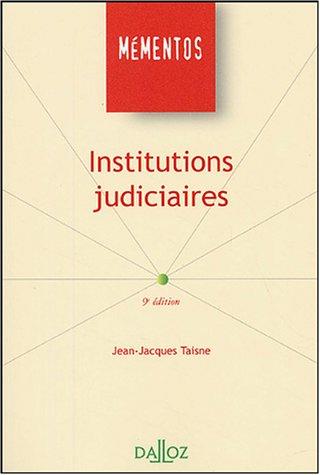 9782247058587: Institutions judiciaires