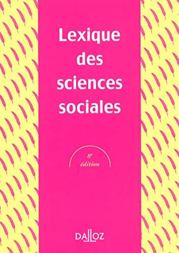 Lexique des sciences sociales: Grawitz
