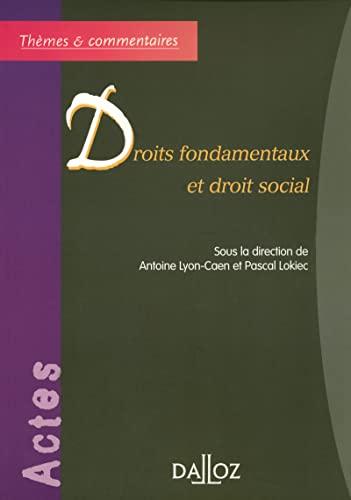 9782247059942: Droits fondamentaux et droit social