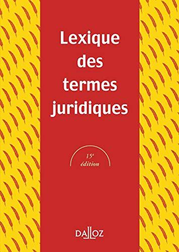 Lexique des termes juridiques 2005: n/a