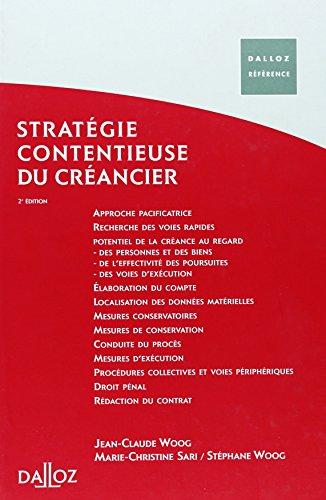 9782247061150: Stratégie juridique du créancier (French Edition)