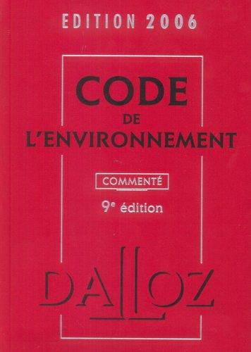 Code de l'environnement 2006: Chantal Cans