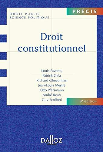 9782247062058: Droit constitutionnel (Précis Dalloz)