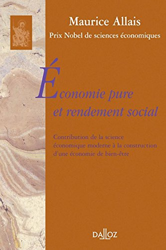 9782247063444: économie pure et rendement social