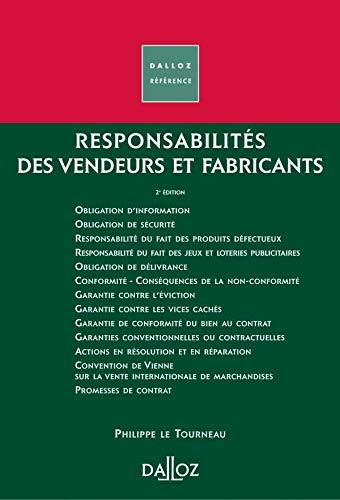 9782247066155: Responsabilité des vendeurs et fabricants (Dalloz référence)
