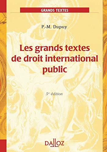 9782247066490: Les grands textes de droit international public : Edition 2006
