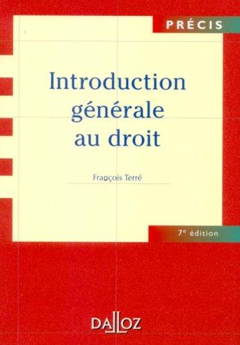 9782247066629: Introduction g�n�rale au droit (Pr�cis Dalloz)