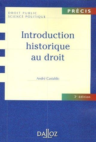 9782247069002: Introduction historique au droit : Edition 2006