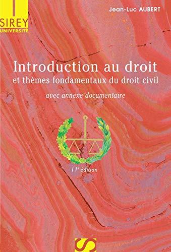 9782247069293: Introduction au droit et thèmes fondamentaux du droit civil : Edition 2006