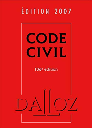 9782247069675: Code Civil Dalloz Edition 2007