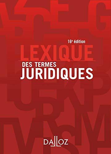 Lexique Des Termes Juridiques (French Edition): Raymond Guillien, Jean